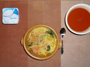 ポテトグラタン,野菜スープ,ヨーグルト