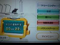 Wii Fit Plus 2012年10月27日の運動時間 22分