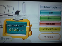 Wii Fit Plus 2012年10月29日の消費カロリー