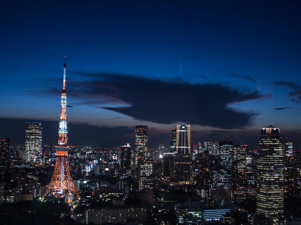 世界貿易東京タワー夜景01