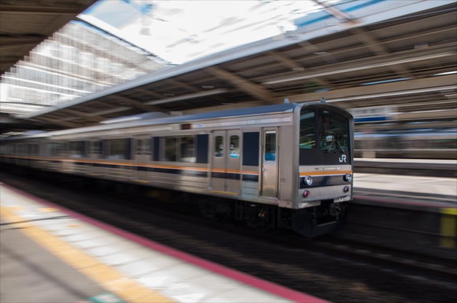 新大阪到着流し撮り