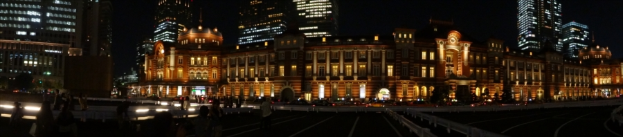 東京駅夜景パノラマ