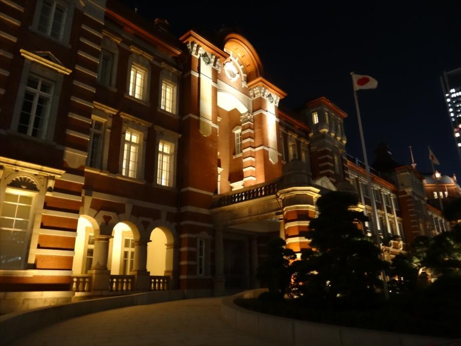 東京駅夜景中央口