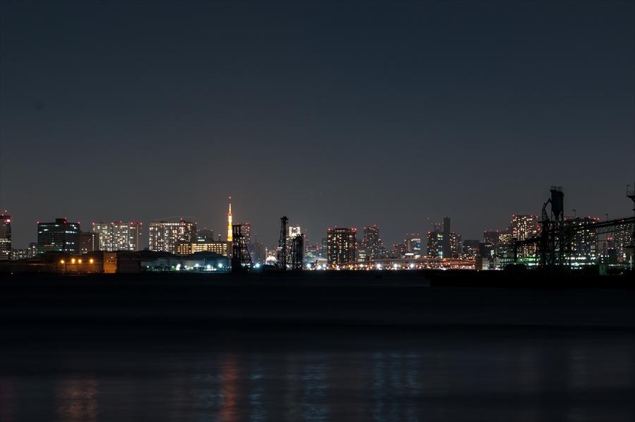 若公園デッキからの東京夜景k7