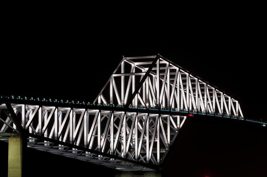 ゲートブリッジ夜景片側手前アップk7