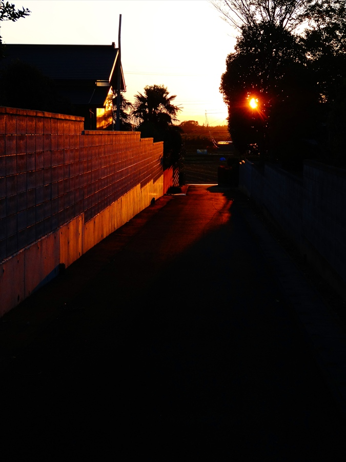 田舎夕景夕日