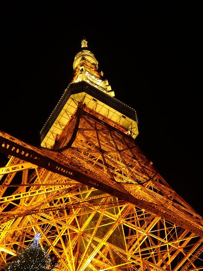 東京タワー見上げ全景