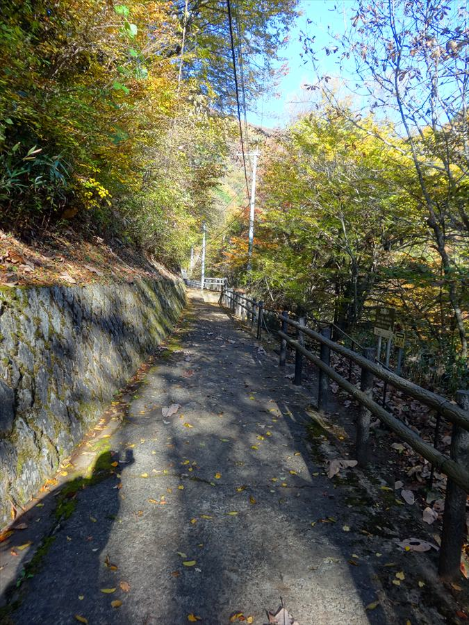 竜門橋遊歩道スタート