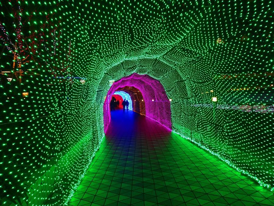 東京ドーム光のトンネル緑のトンネル01