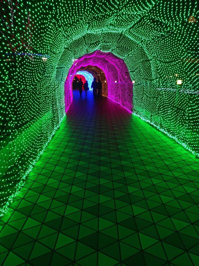 東京ドーム光のトンネル緑のトンネル02