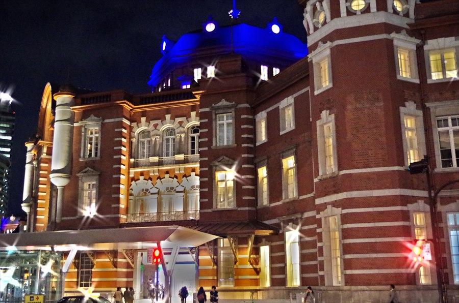 東京駅南口ライトアップドラマチックアート風00