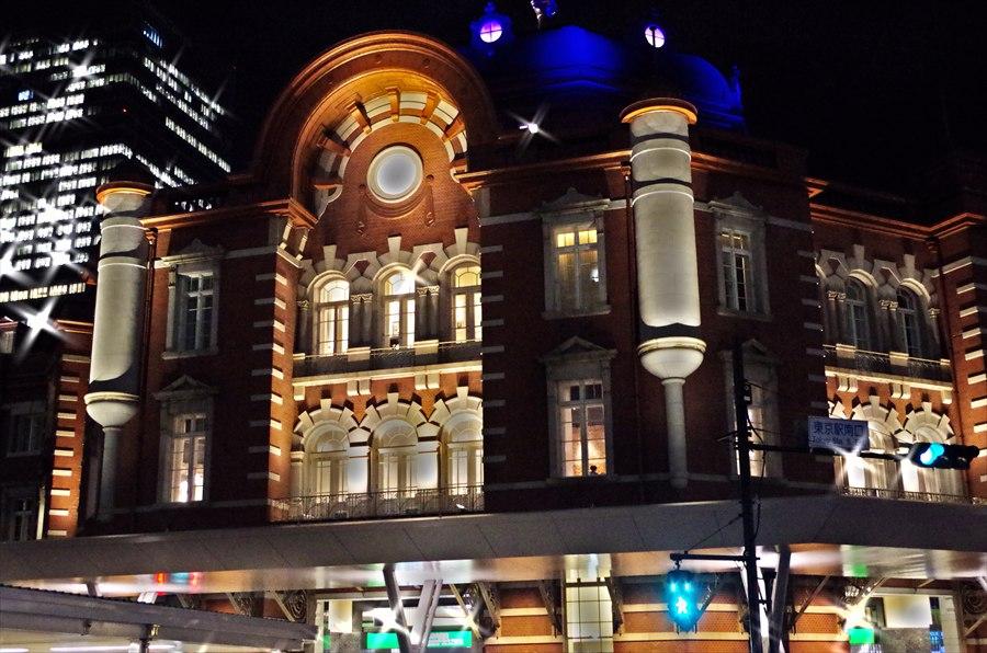 東京駅南口ライトアップドラマチックアート風01