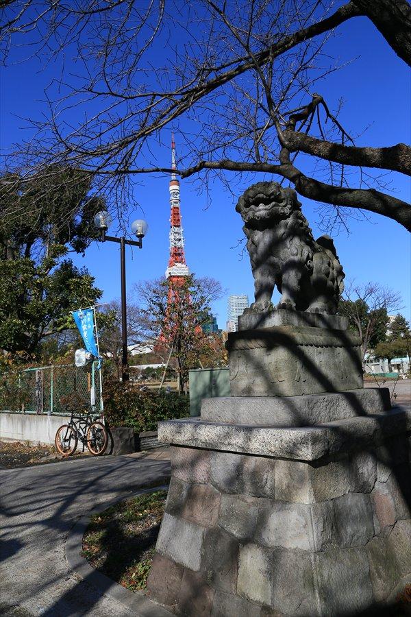 狛犬と東京タワー