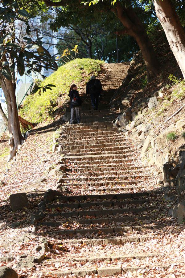 昼下がり坂道カメラ女子登る