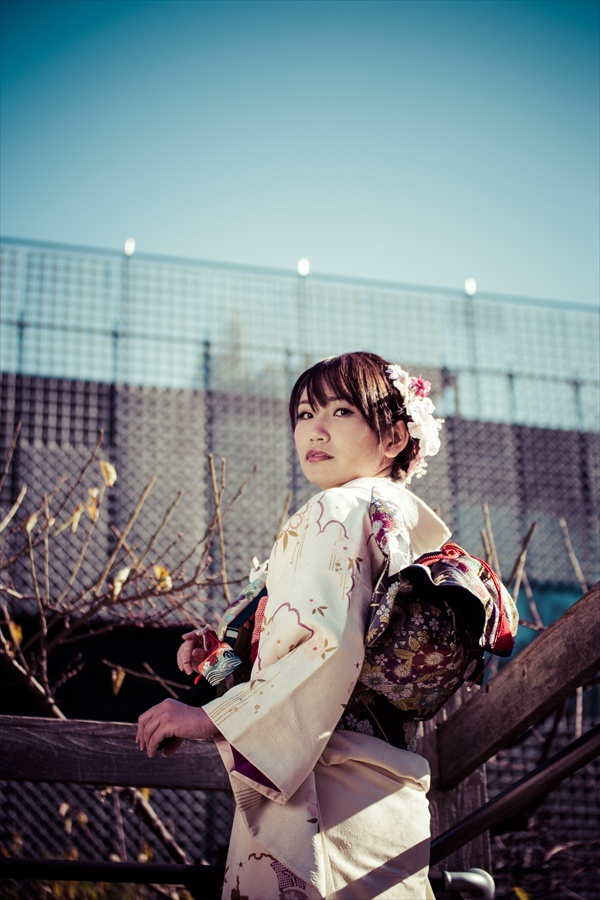 A全東京写真連盟芝公園川西ちえ古い写真風02