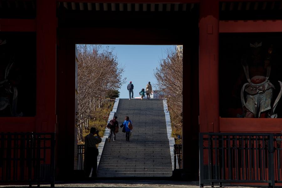 増上寺の門から眺める風景03