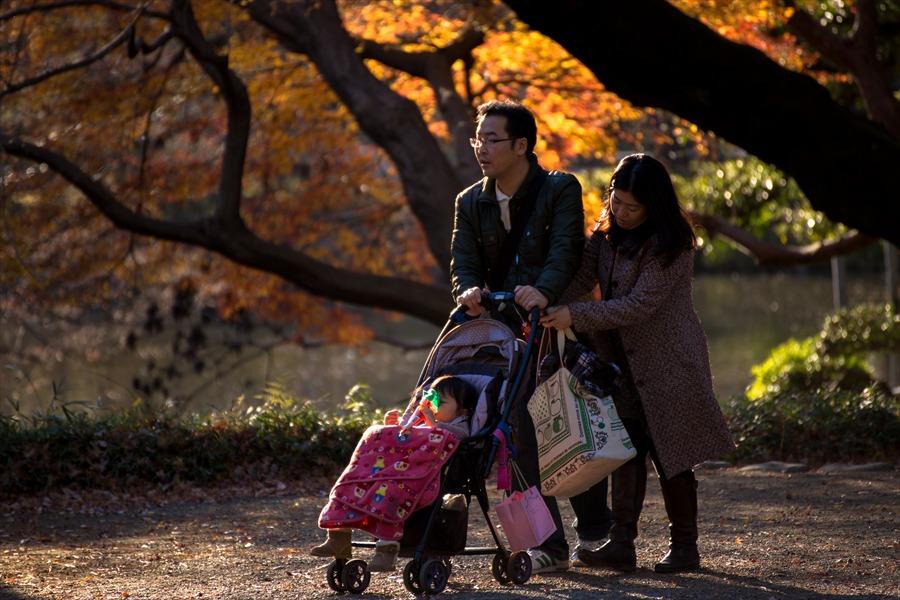 小石川後楽園紅葉を楽しむ01