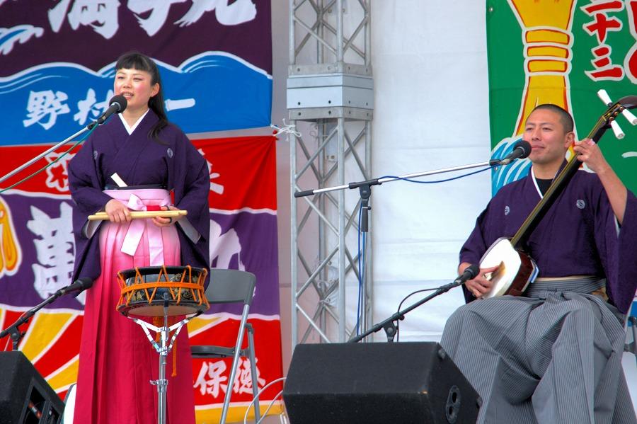 お台場イベント民謡01