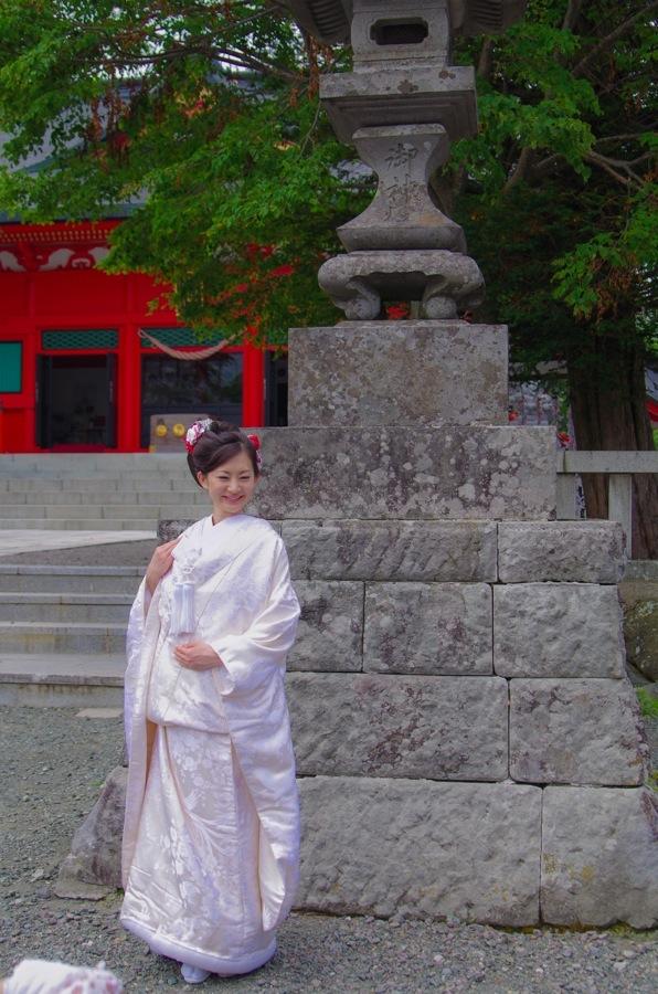 赤城神社撮影会モデル白無垢階段前13