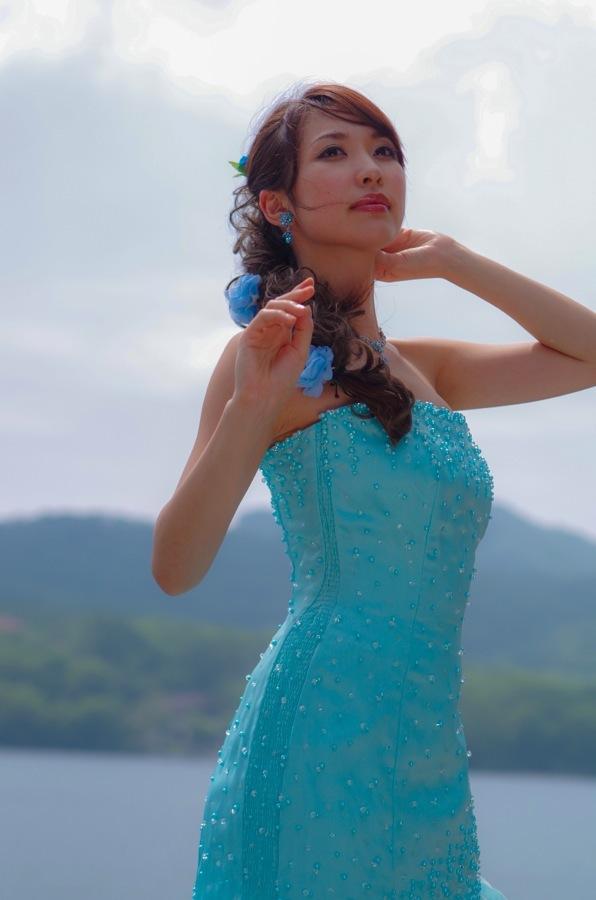 赤城神社撮影会モデル湖水前ドレスアップ上向き16