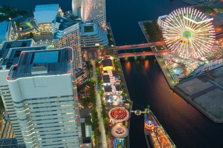 横浜ランドタワー展望室夜景05