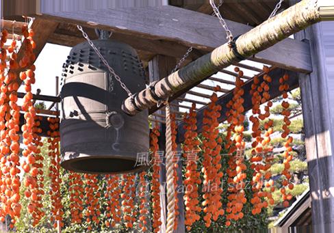 blg_伊那谷の柿-5   鐘楼の吊るし柿