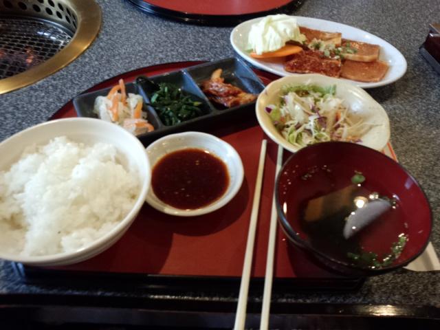 昇鶴園の焼肉ランチ