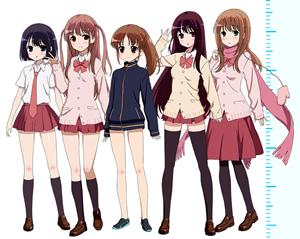 咲-Saki-阿知賀編 / 阿知賀女子・麻雀部員の身長を測定してみた