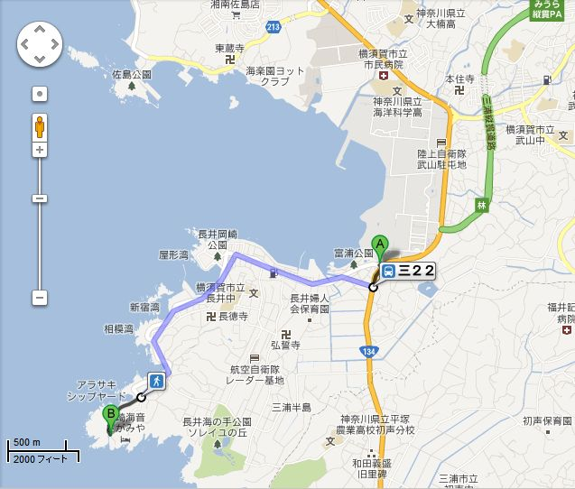 長井荒崎地図