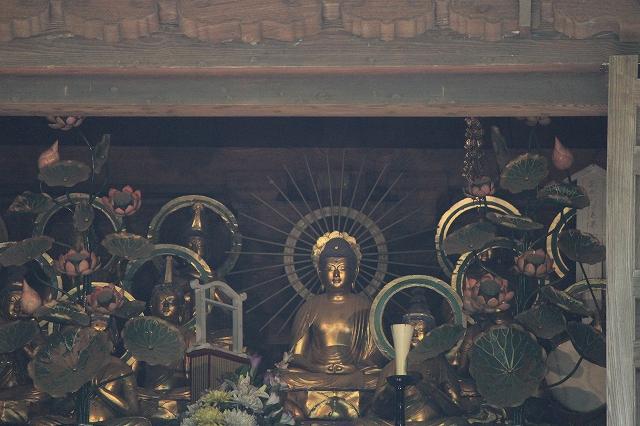仁王門楼上_阿弥陀如来と二十五菩薩像