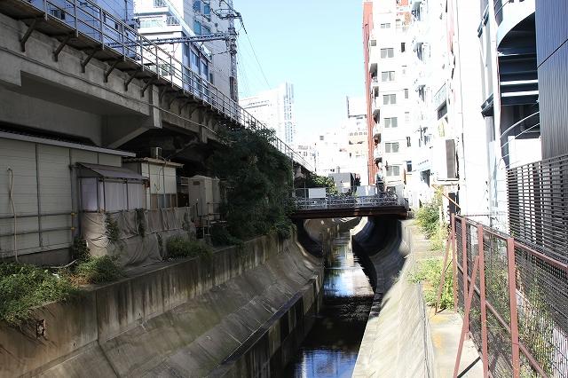 川の流れが見える渋谷川_3