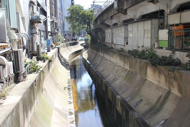 川の流れが見える渋谷川_4