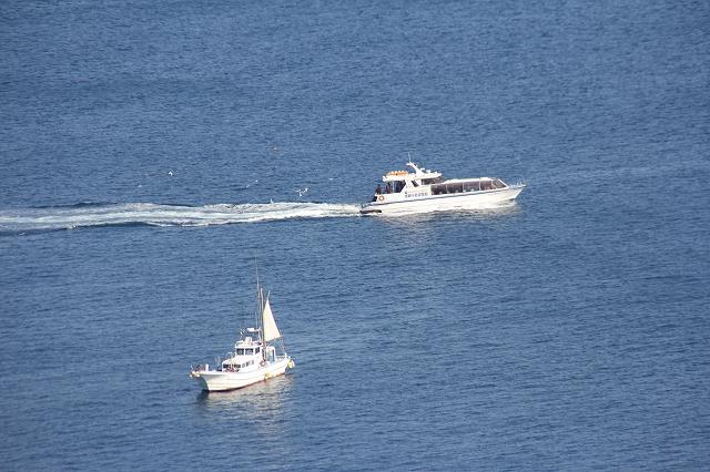真鶴半島遊覧船と釣り船