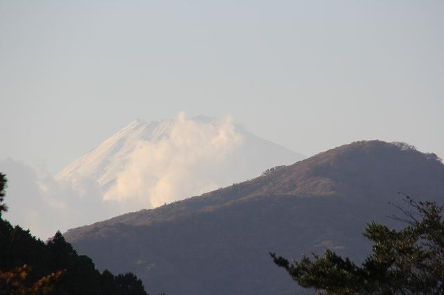 姿を表した富士山_3