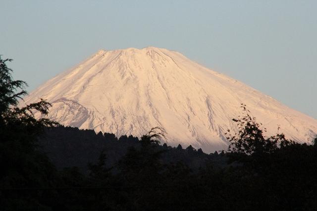 ブルーモーメントのあとの富士山_1