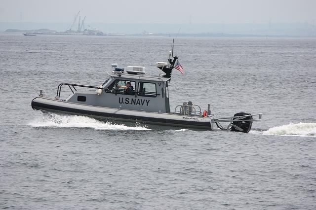 米軍の警備艇