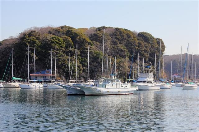 湾内に停泊中のヨット・漁船など_6