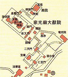 輪王寺大猷院霊廟地図
