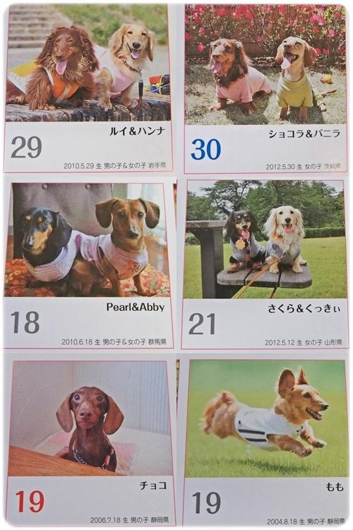 カレンダーはお友達と一緒