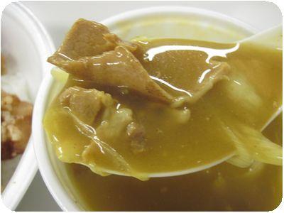 Bセット(カレー茶漬け+唐揚げ)