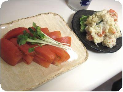 冷やしトマト&ポテトサラダ