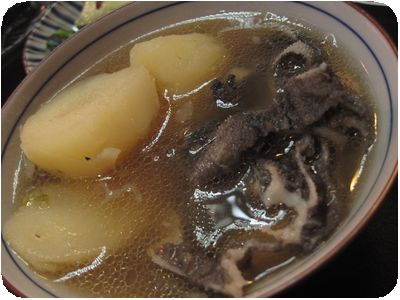 ジャガイモ・牛もつ(センマイ)