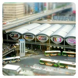 ヒカリエ7階から見た渋谷駅