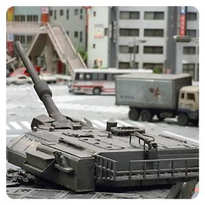 特撮博物館 ミニチュアで見る昭和平成の技・ジオラマブースの戦車