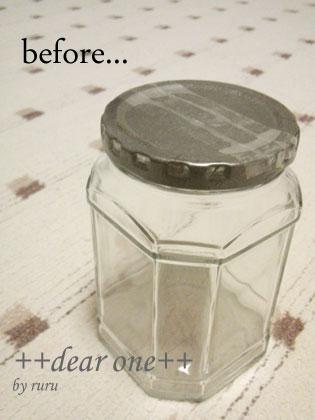 ガラス瓶リメイク130319_1