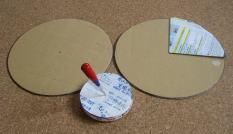段ボール皿回し作り方3