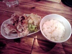 一帆 特製鶏煮節 中華そば 鶏から揚げとごはん