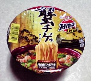 スーパーカップ1.5倍 蟹チゲ味ラーメン