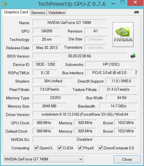 TS15 GPUZ_GT740M