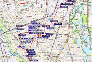 大井町~御嶽山駅 19.8km